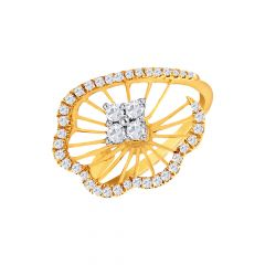 Contemporary Office Wear Rose Gold 18kt with undefined Rings-267-LR11040
