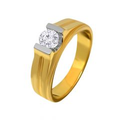 Elegant Channel Setting Solitaire Ring for Men -IINOGR-47