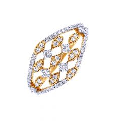 Dazzling Dome Diamond Gold Ring-DR_3775