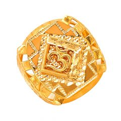 Stylish Aum Gold Ring For Him-R_40681