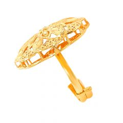 Blooming Cutout Textured Gold Ring-R_48141