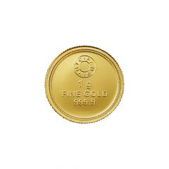 Lotus MMTC PAMP 1 Gms 999 Purity Gold Coin