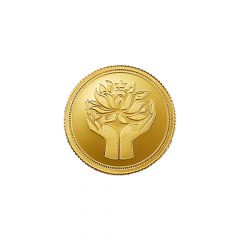 1 Grams 999 Purity Lotus MMTC PAMP Gold Coin-LOTUSGOLD1GM
