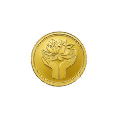 2 Grams 999 Purity Lotus MMTC PAMP Gold Coin-LOTUSGOLD2GM