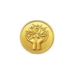 4 Grams 999 Purity Lotus MMTC Pamp Gold Coin-LOTUSGOLD4GM