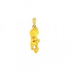 Religious Lord Hanuman CZ Daily Wear Yellow Gold 22kt CZ Pendant For Infant -275-120054100