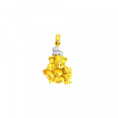 Religious Lord Ganesha Daily Wear Yellow Gold 22kt Pendant -275-12005807