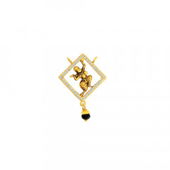 Traditional Temple CZ Daily Wear Yellow Gold 22kt Tanmaniya -275-120095434