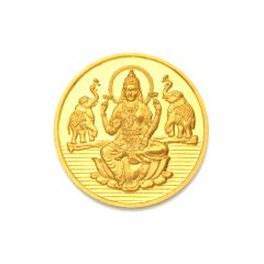 Religious Lord Lakshmi 10 Gms 999 Purity Gold Coin