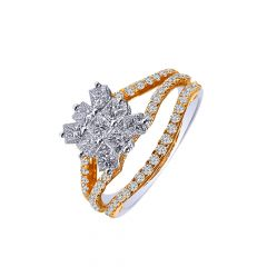 Glittering Fancy Shape Diamond Ring