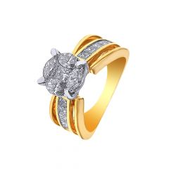 Dazzle Cluster Fancy Shape Diamond Ring