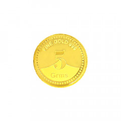 999 Purity 5 Gms Gifting Yellow Gold Coin -283-8069