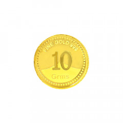 999 Purity 10 Gms Gifting Yellow Gold Coin -283-8079