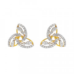 Dazzle Cluster Interwind Diamond Earrings -283-D2485