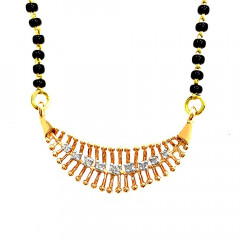 Sparkling Contemporary Daily Wear Rose Gold 18kt Mangal Sutra -283-D2706