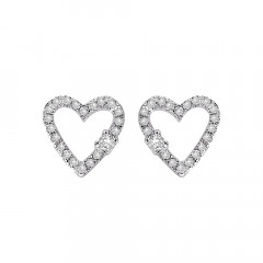 Trendy Heart Daily Wear Rose Gold 14kt Earrings-283-D2789