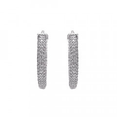 Dazzling Cluster Bali Diamond Earrings -D2792