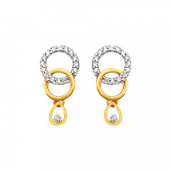 Dazzling Geometric Dangler Diamond Earrings -283-D769