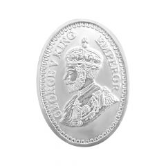 999 Purity 20 Gms George V King Oval Silver Coin -Gerogevking 20gmoval