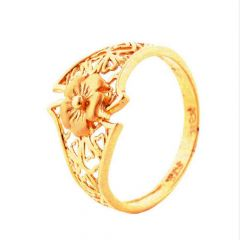 Elegant Cutout Floral 22kt Yellow Gold Ring -30-R86751