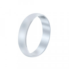 Plain Band Love Anniversary White Platinum 995 Rings-A536