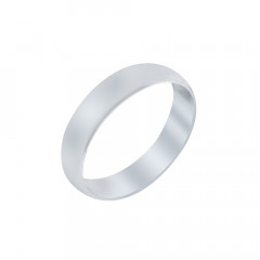 Plain Band Love Anniversary White Platinum 995 Rings-undefined-R154