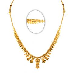 22kt Glossy Matte Finish Light Weight Gold Necklace-31-A56