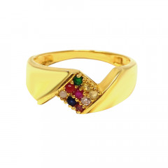 Navgrah Daily Wear Synthetic Gemstone Gold Ring For Him-GR6905