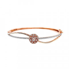 Splendid  Rose Gold Synthetic Diamond Bracelet-LBR8039