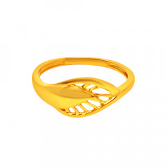 Trandy Leaf Gold Ring-LR4007