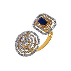 Sparkling Adjustable Diamond Gold Ring-LR7184