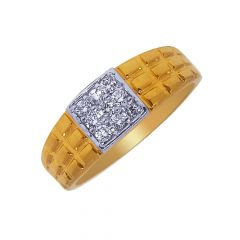 Traditional Cluster Diamond Gold Ring-DJGR54