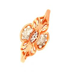 Delight Cutout Cluster Daily Wear 18kt Rose Gold CZ Ring -60448005