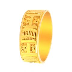 Traditional Embossed Gold Band For Him-PCJ04