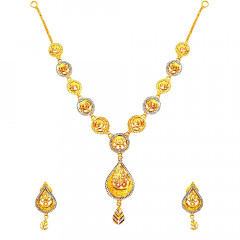 Traditional Yellow Gold Necklace Sets-PPJ06