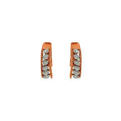 Glittering Embossed Rose Gold Earring-KDI-142B