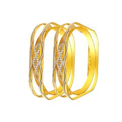 Stylish 22KT Gold Bangles( Set of 2)-FOB001
