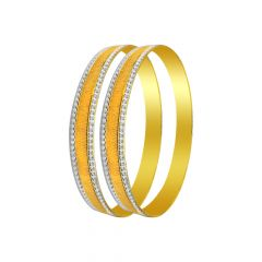 Elegant Textured 22KT Gold Bangle-FOB004