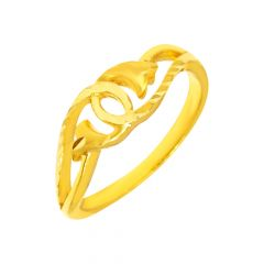 Elegant Textured Interwind Daily Wear 22kt Yellow Gold Ring -shp01