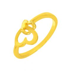 Delight Interlink Heart Daily Wear 22kt Yellow Gold Ring -shp03