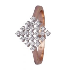 Glossy Glittering Cluster Diamond Ring-454-A1862