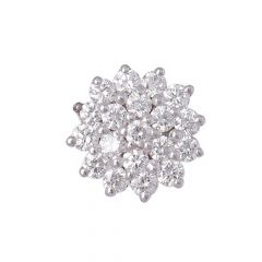 Cluster Diamond Glittering Nose Pin-461-A744