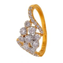 Pave Set Cluster Glittering Diamond Ring - 47ADLR230