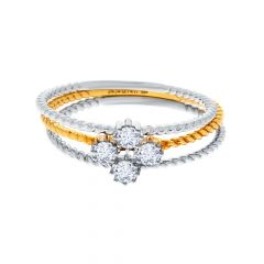 Elite Two Tone Stackble Diamond Ring
