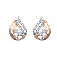 Prong Set Pear Design Top Earrings-60278110