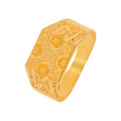 Traditional Textured Child Gold Ring