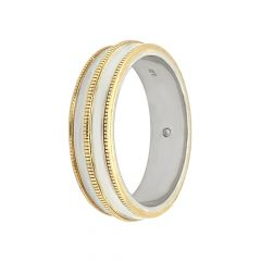 Two Tone Platinum Gold Band