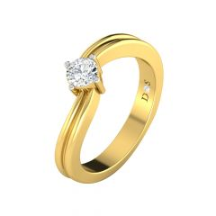 Brilliant Single Solitaire Diamond Ring-RF1243-Y