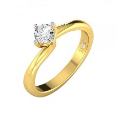 Interwoven Solitaire Diamond Ring-RF1328-Y