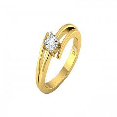 Plush Solitaire Diamond Ring-RF1437-Y
